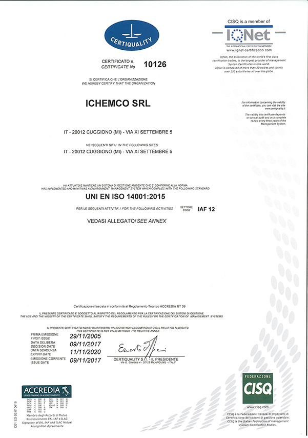 ISO 14001 Certiquality